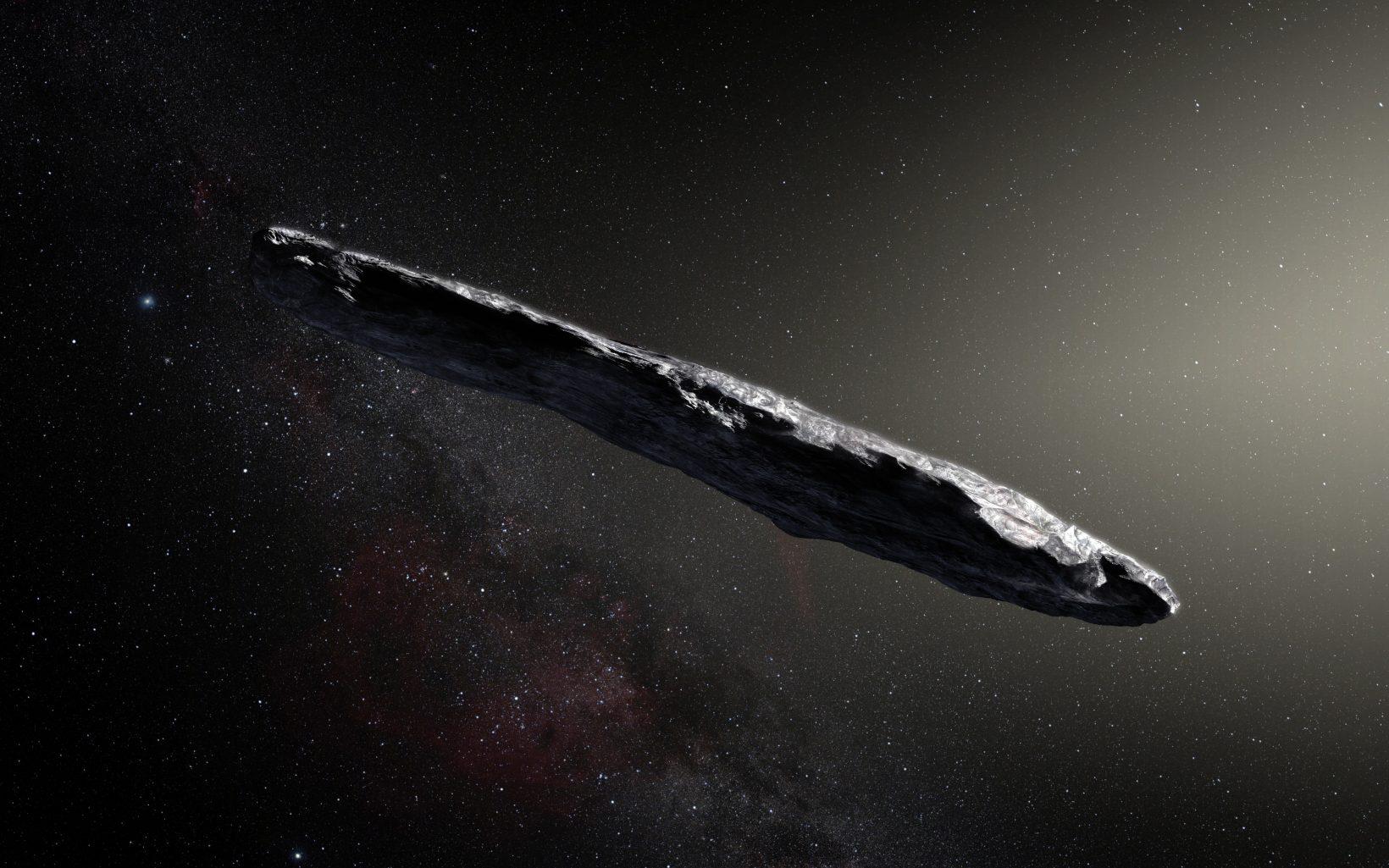 Астероид Оумуамуа впредставлении художника