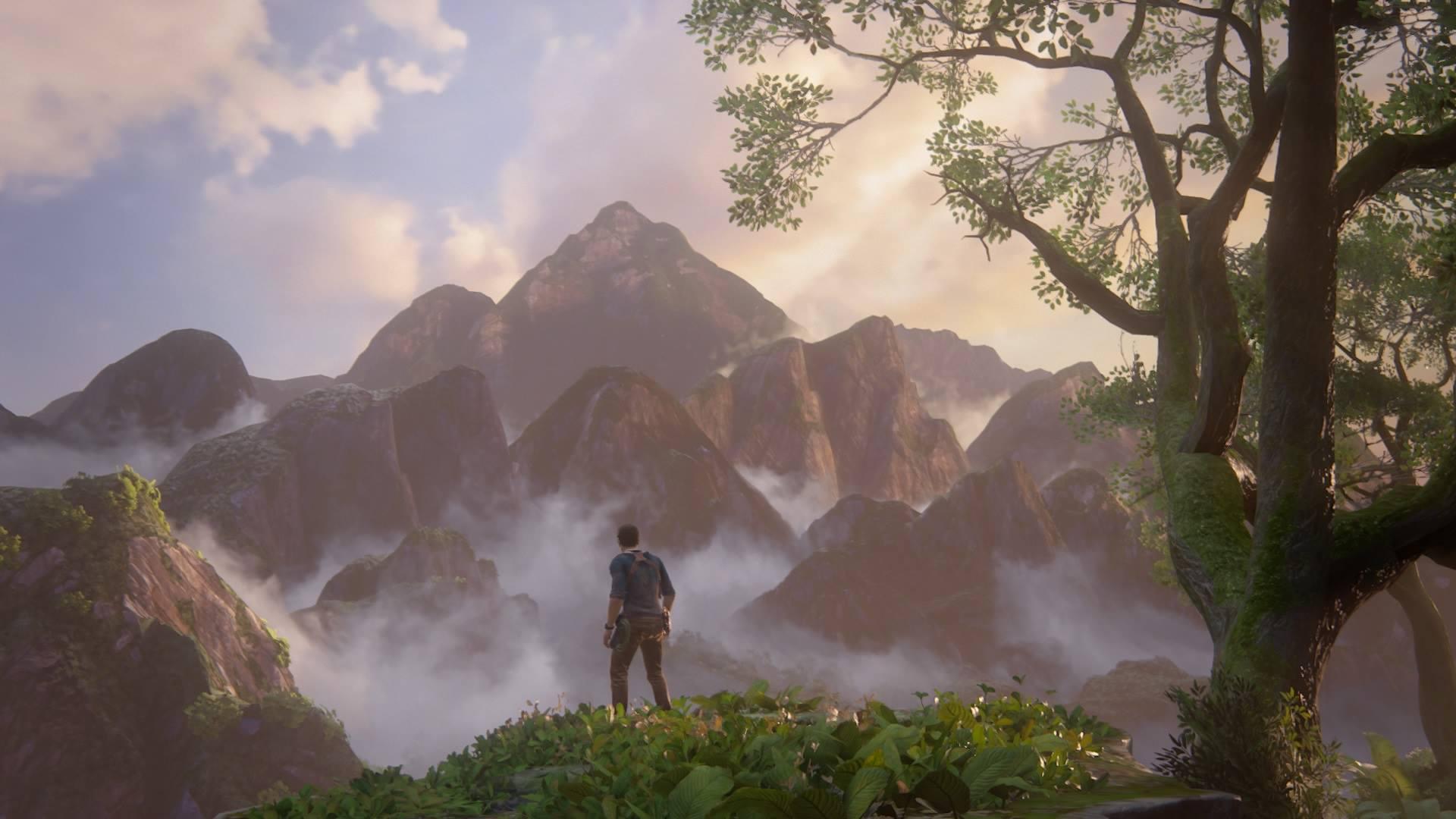 Кадр из игры Uncharted 4.