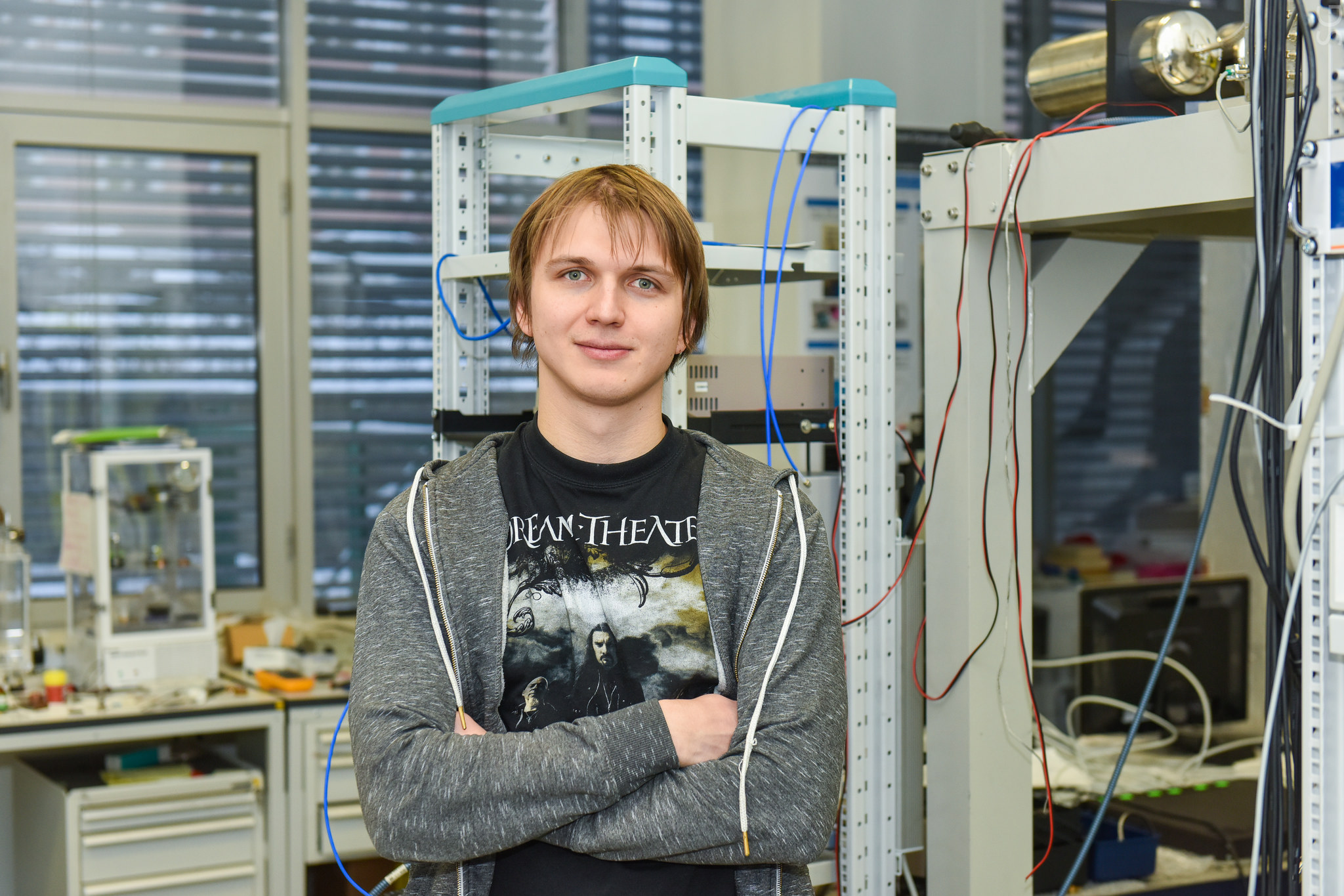 Инженер лаборатории «Сверхпроводящие метаматериалы» НИТУ «МИСиС» Илья Беседин.