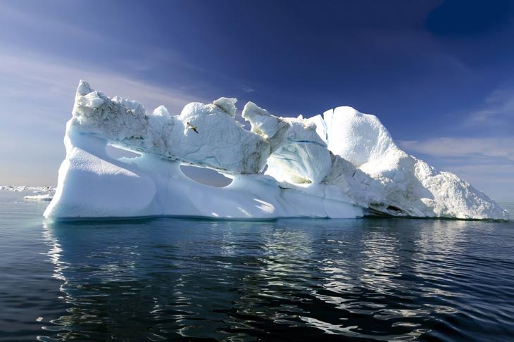 В 2017г. таяние полярных льдов продолжилось.