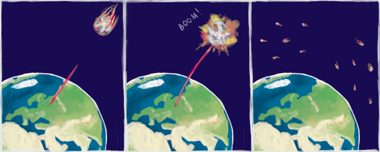 Как надо поступать сопасными астероидами, летящими кЗемле. Иллюстрация пресс-службы МФТИ.
