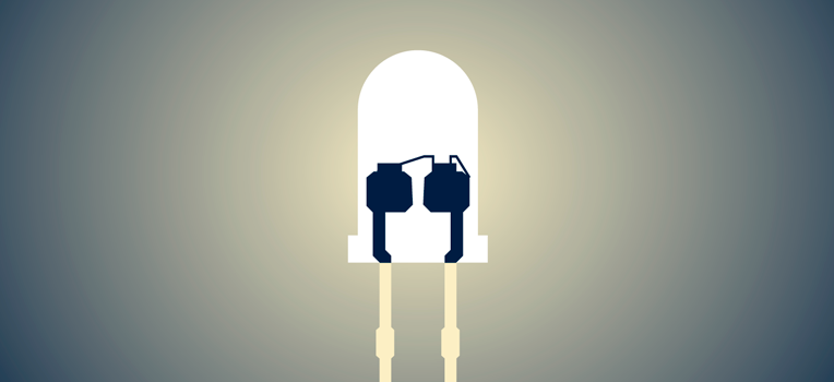 Светодиод. Иллюстрация пресс-службы МФТИ.