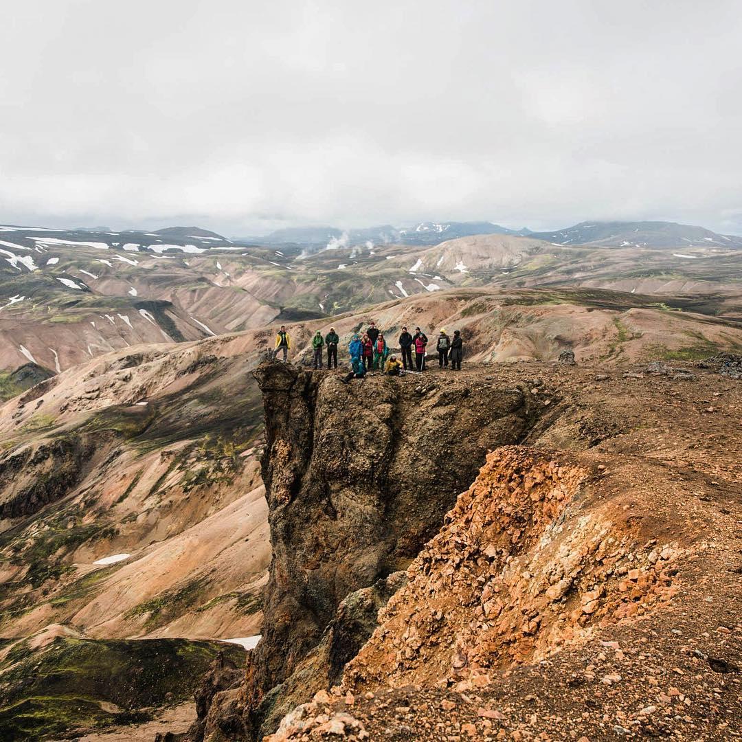 Группа RTG во время одной из экспедиций вИсландии.