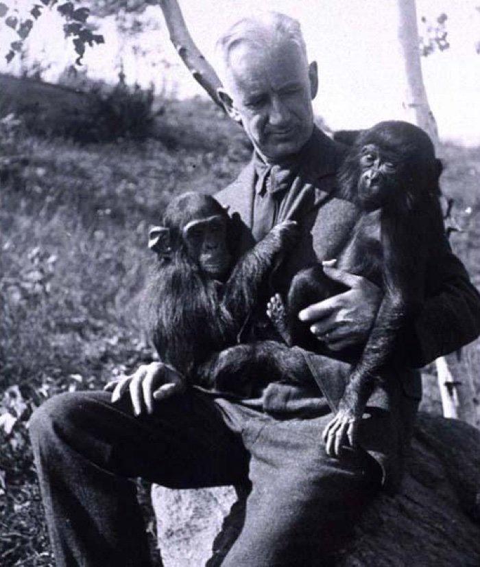 Роберт Йеркс внациональном центре по исследованию приматов