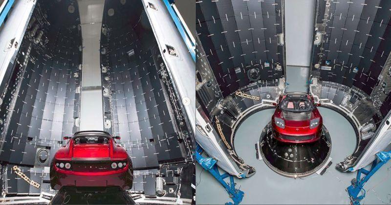 Вишнёвый <i>Tesla Roadster</i> Илона Маска готова кзапуску. // Фото из <i>Instagram</i> Илона Маска