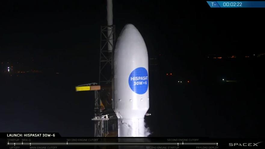 Перед стартом. Кадр из видео ссайта <i>SpaceX</i>.