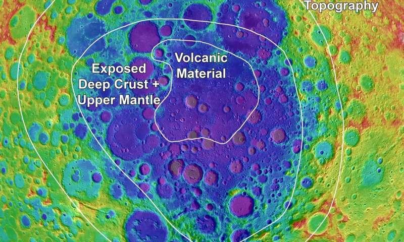 Исследователи составили карту регионов самого большого лунного бассейна иего окрестностей. Карта должна помочь вдальнейшем изучении спутника Земли