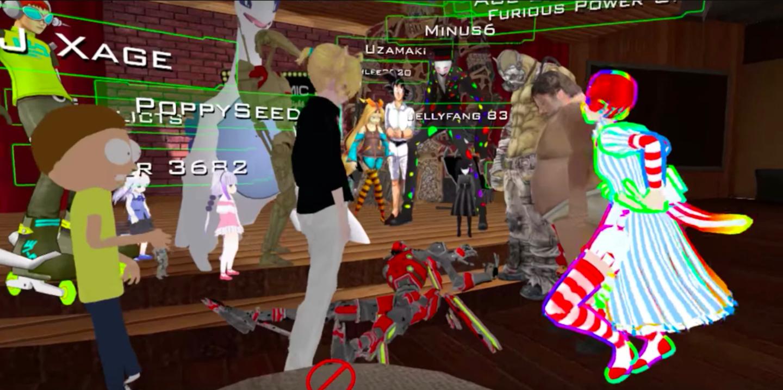 Участники VRChat пытаются помочь игроку во время эпилептического припадка.