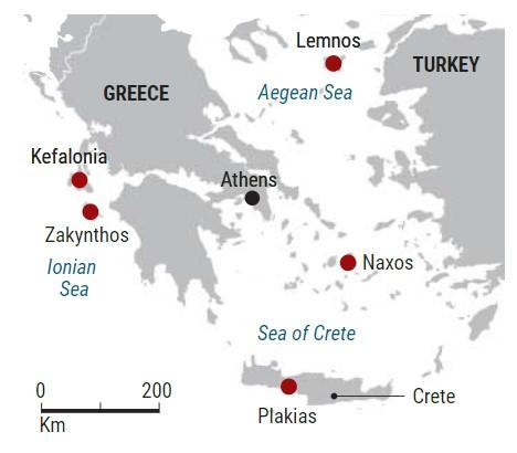 Предполагаемые неандертальские стоянки наостровах Средиземного моря