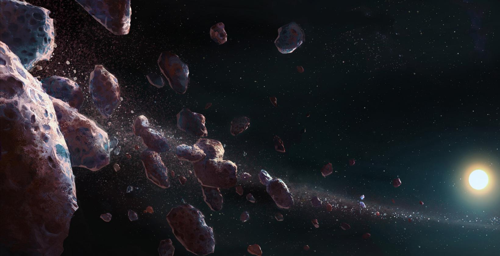 Мифологизированное представление опоясе астероидов