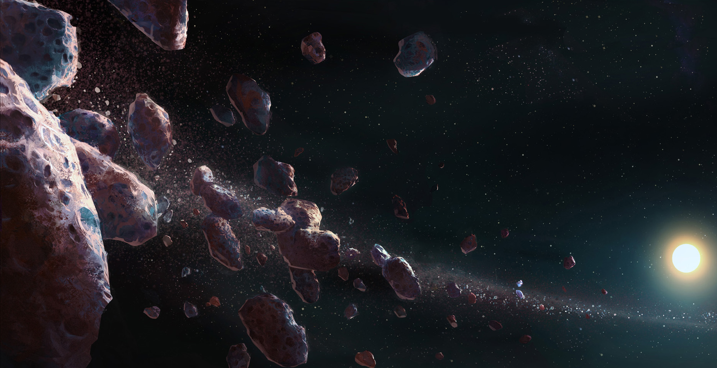 asteroid belt pictures - HD 2493×1278