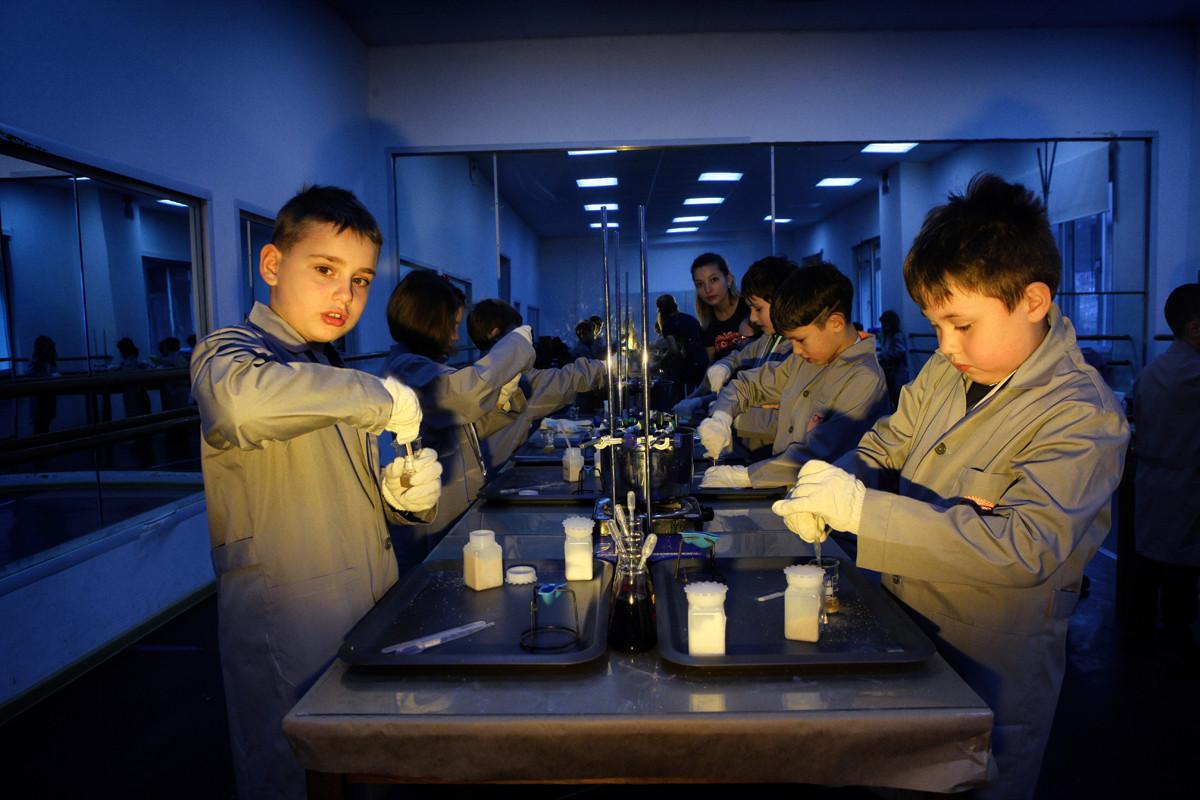 На программе «Великие научные открытия».