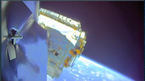 Вторая ступень Falcon 9 Block 5 доставляет бангладешский спутник связи Bangabandhu-1 напереходную геостационарную орбиту.