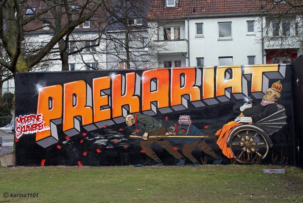 "Прекариат. Фото граффити вДортмунде, Инненштадт-Норд. | <a href=""https://www.flickr.com/photos/karina_285/8565867988"" rel=""noopener"" target=""_blank"">Источник</a>."