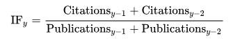 Формула расчёта импакт-фактора.
