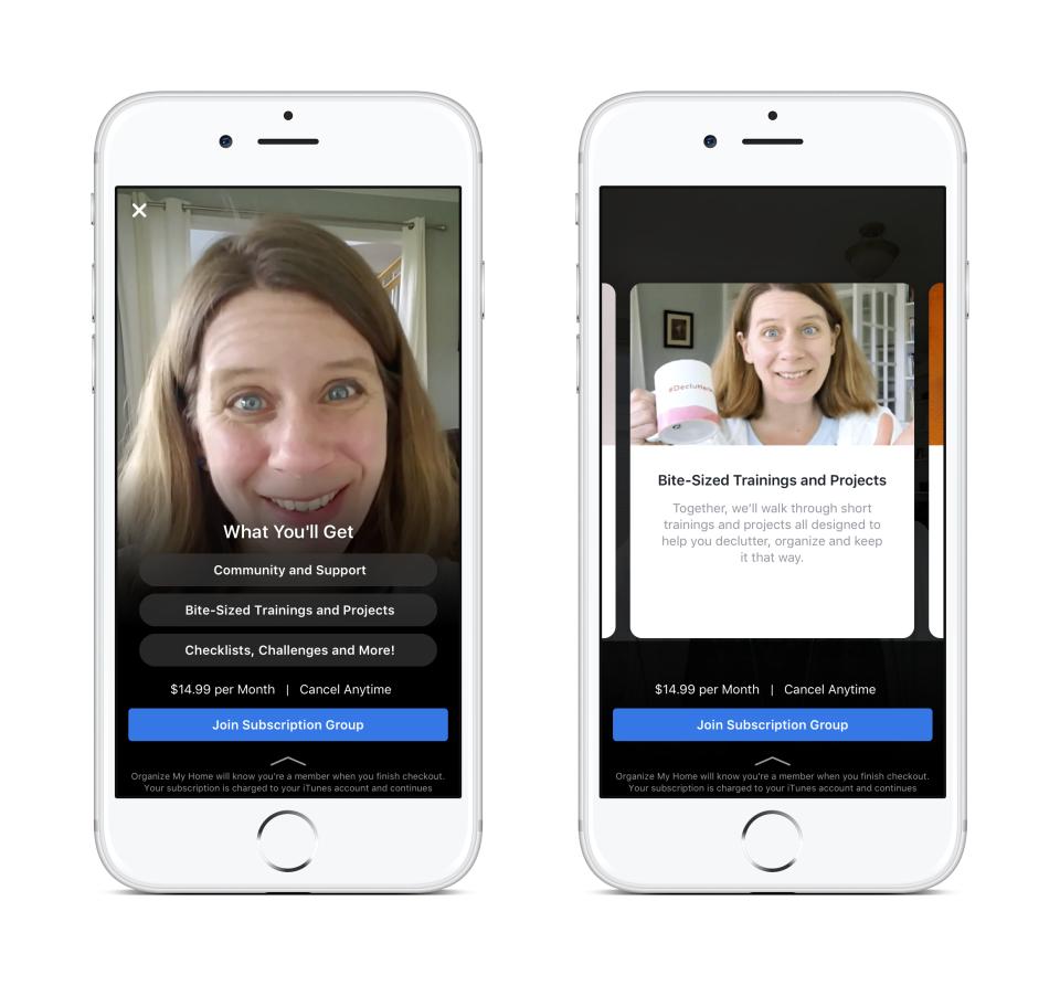 Теперь <i>Facebook</i> позволит администраторам крупных групп создавать мелкие сообщества, доступные только по подписке. Накартинке— превью одного из таких сообществ, которое расписывает его преимущества.