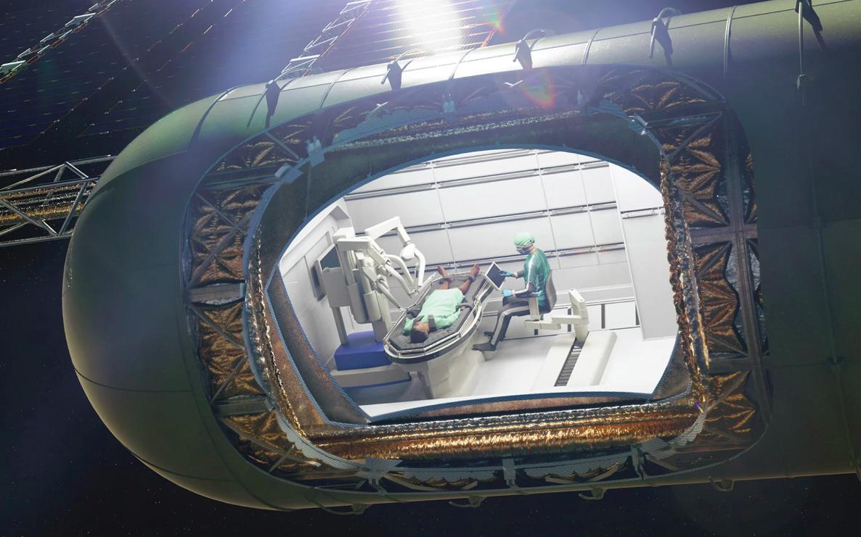 Медицинский отсек космического корабля будущего впредставлении художника. || Фото: S. S. Panesar, et al./T. Trapp/BJS Society/John Wiley & Sons Ltd.