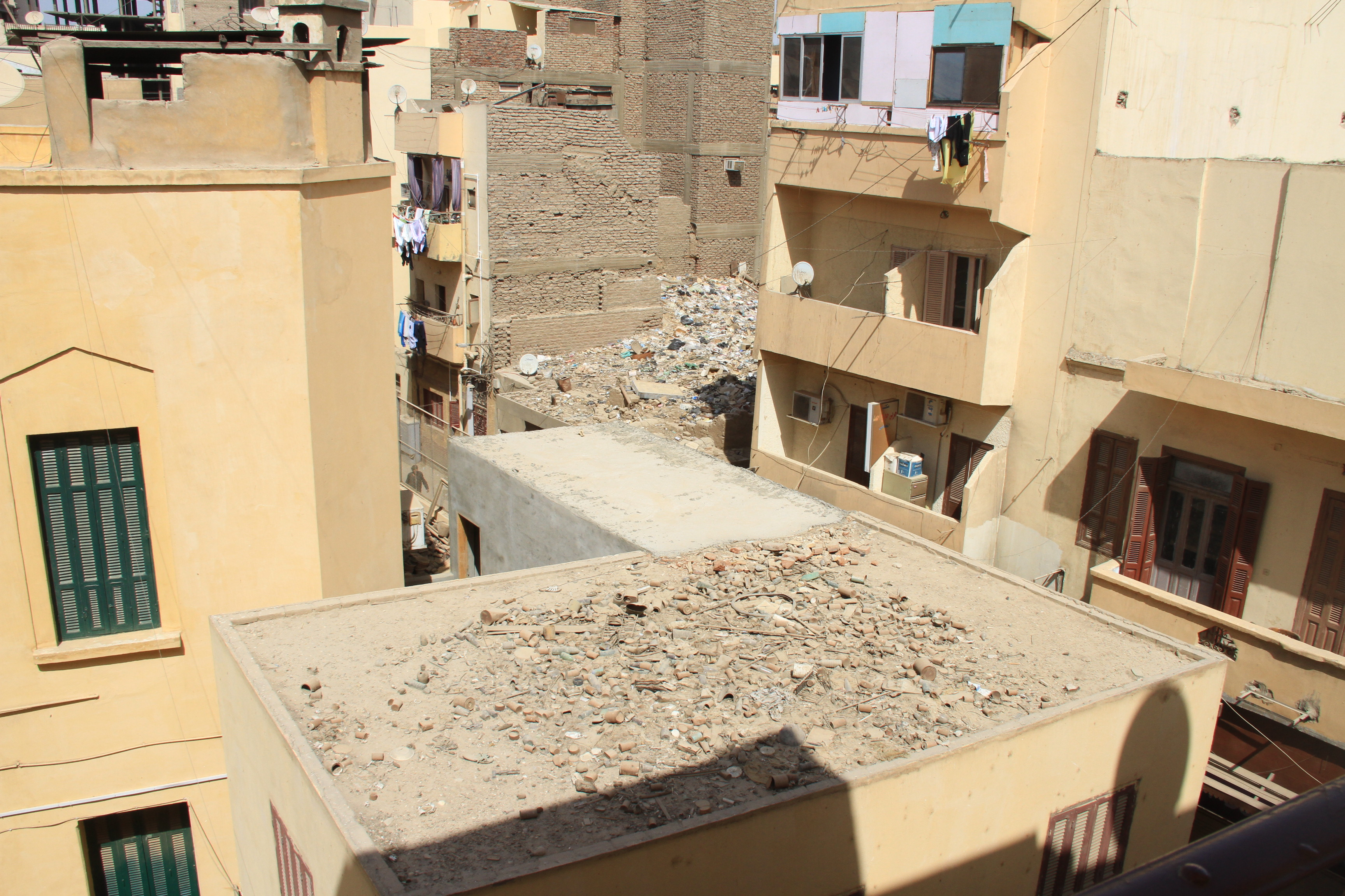 Вид сбалкона отеля Nefertiti вЛуксоре