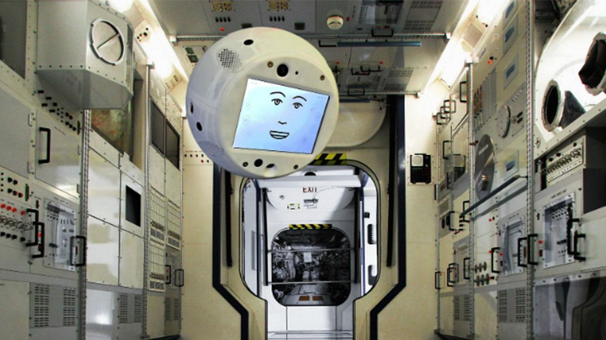 Робот <i>CIMON</i> в«естественной среде обитания».