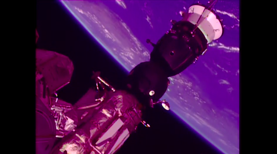 Модуль «Союз», вкотором была обнаружена утечка кислорода.