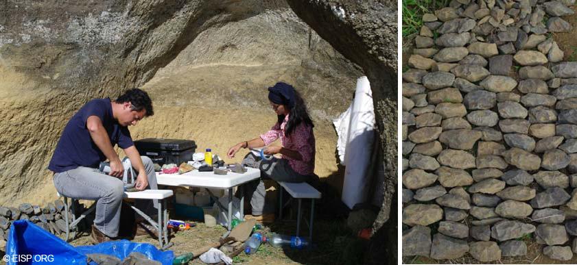 Базальтовые тёсла, найденные при раскопках