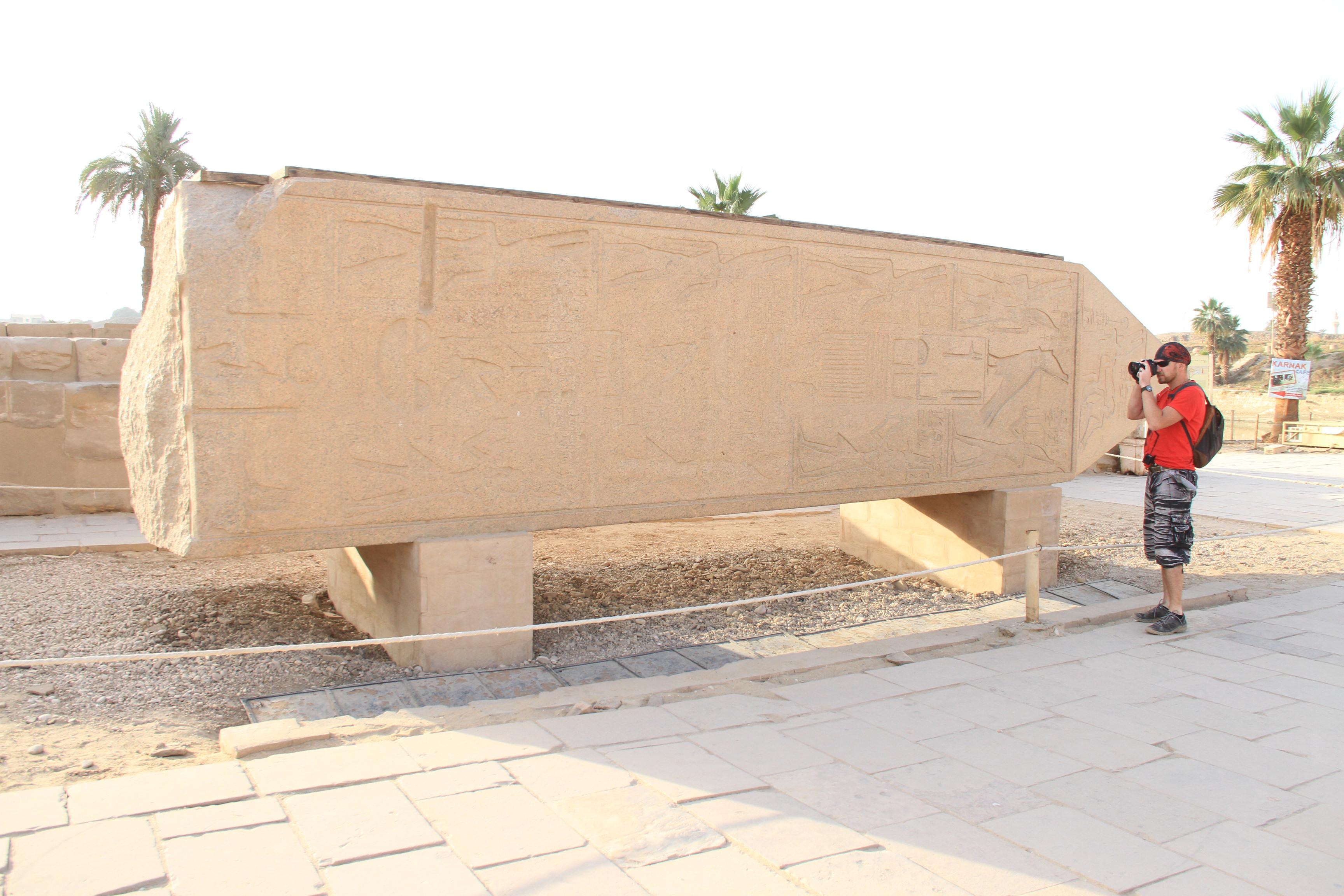 Фрагмент обелиска Хатшепсут вКарнаке