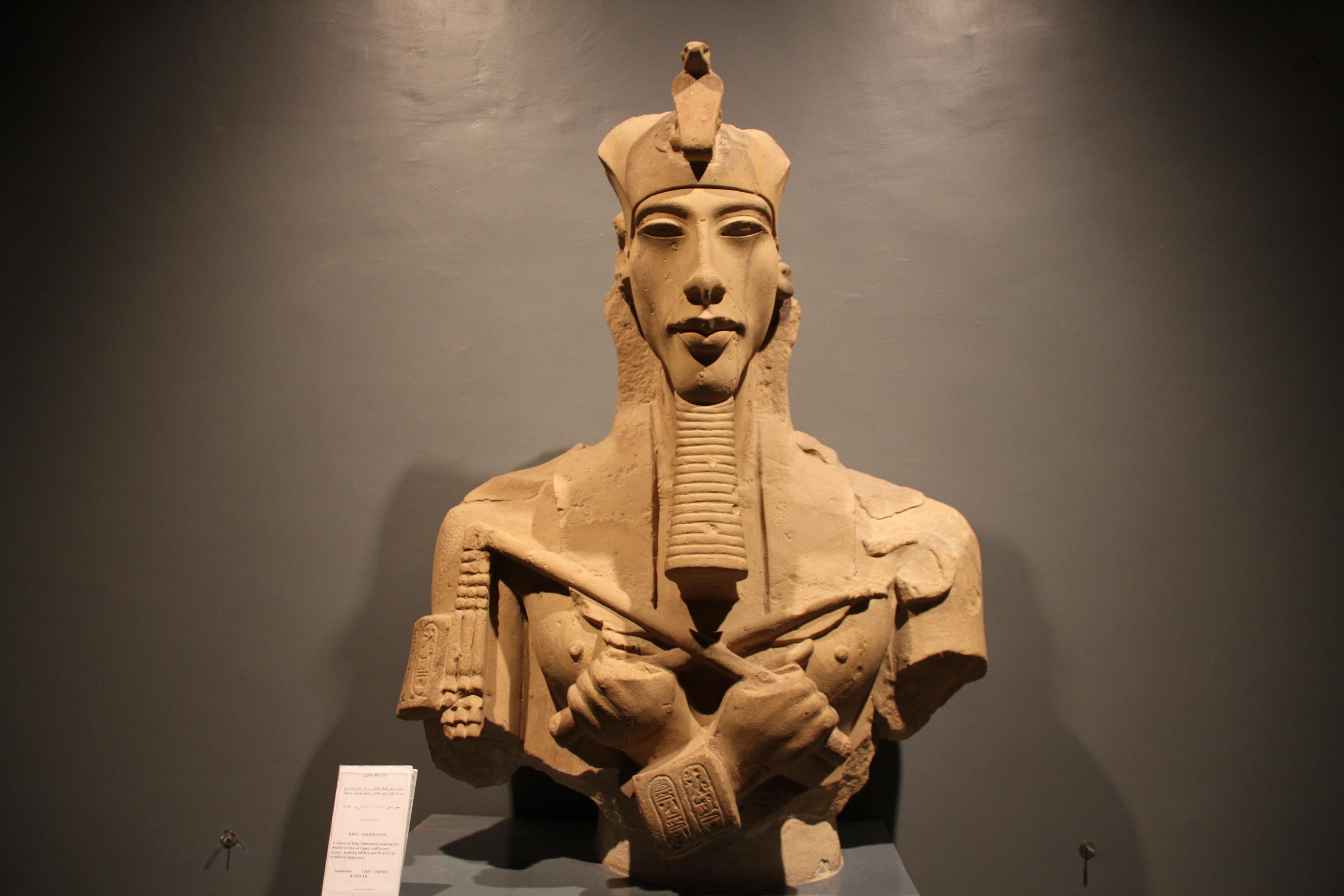 Статуя Эхнатона. Луксорский музей