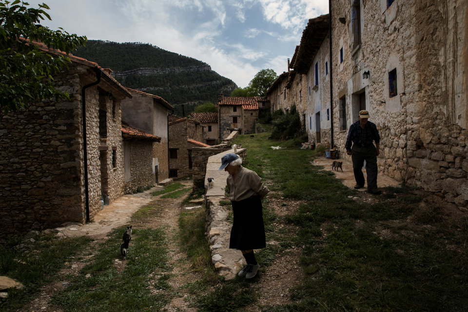 Последние жители испанской деревни.