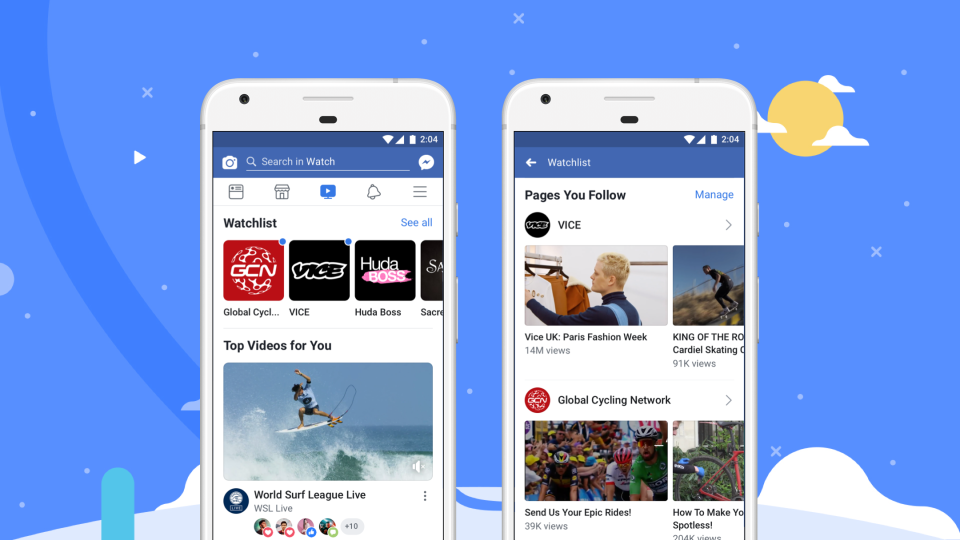 <i>Facebook Watch</i> запустили по всему миру после года тестирования вСША.