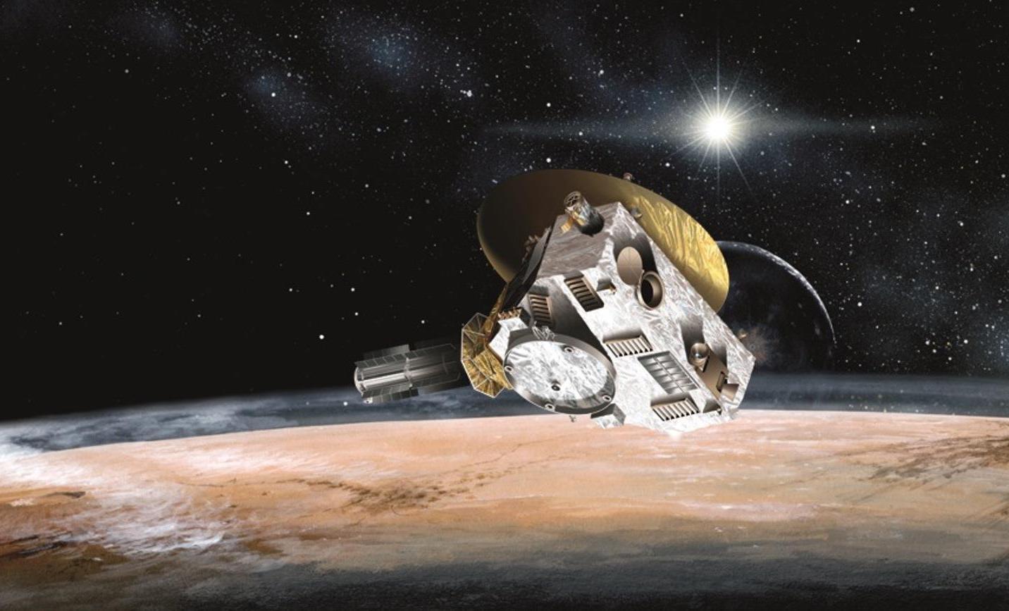 Аппарат «Новые горизонты» впредставлении художника. || Фото: NASA