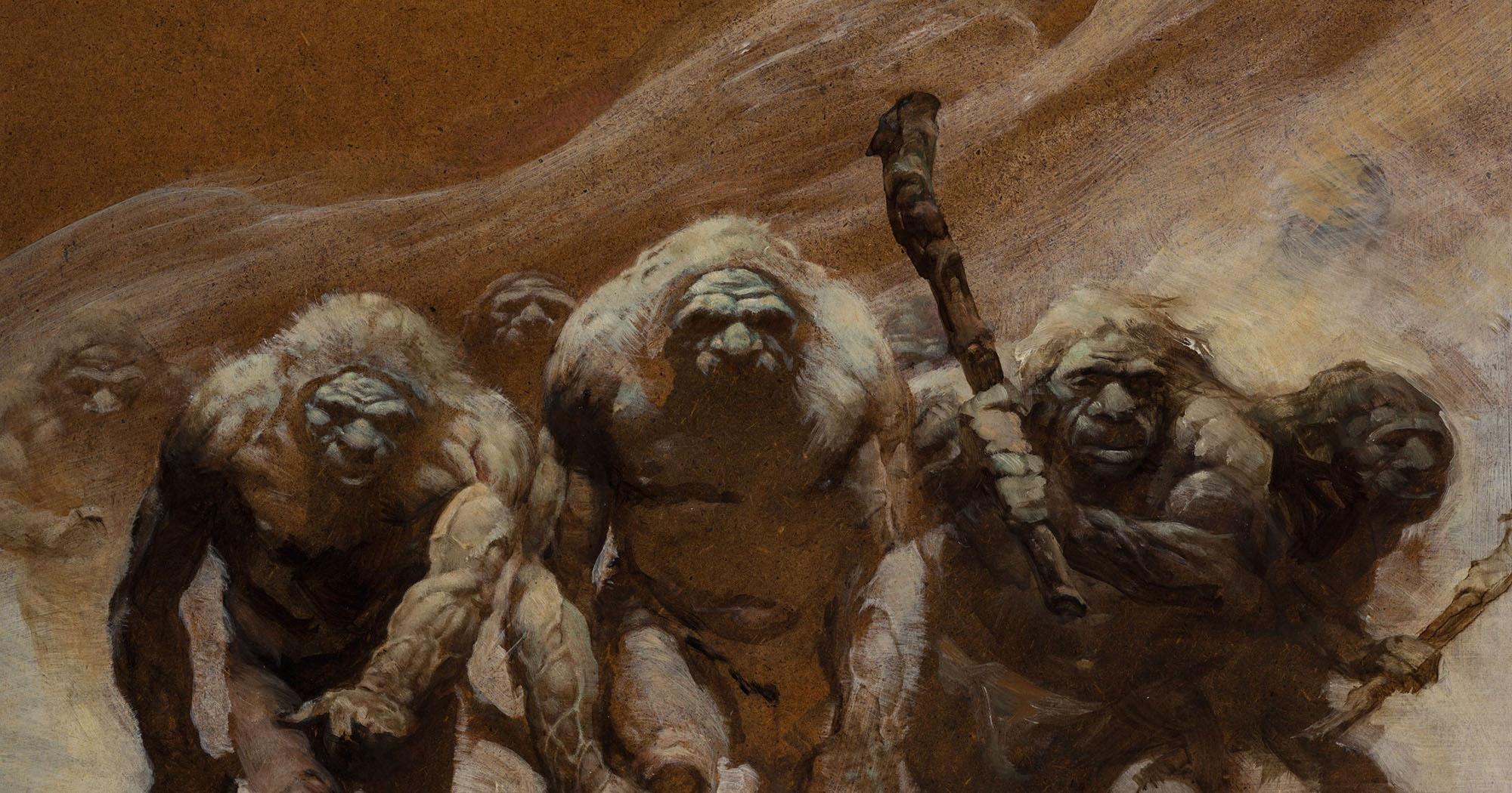 Неандертальцы. Рисунок Фрэнка Фразетты.