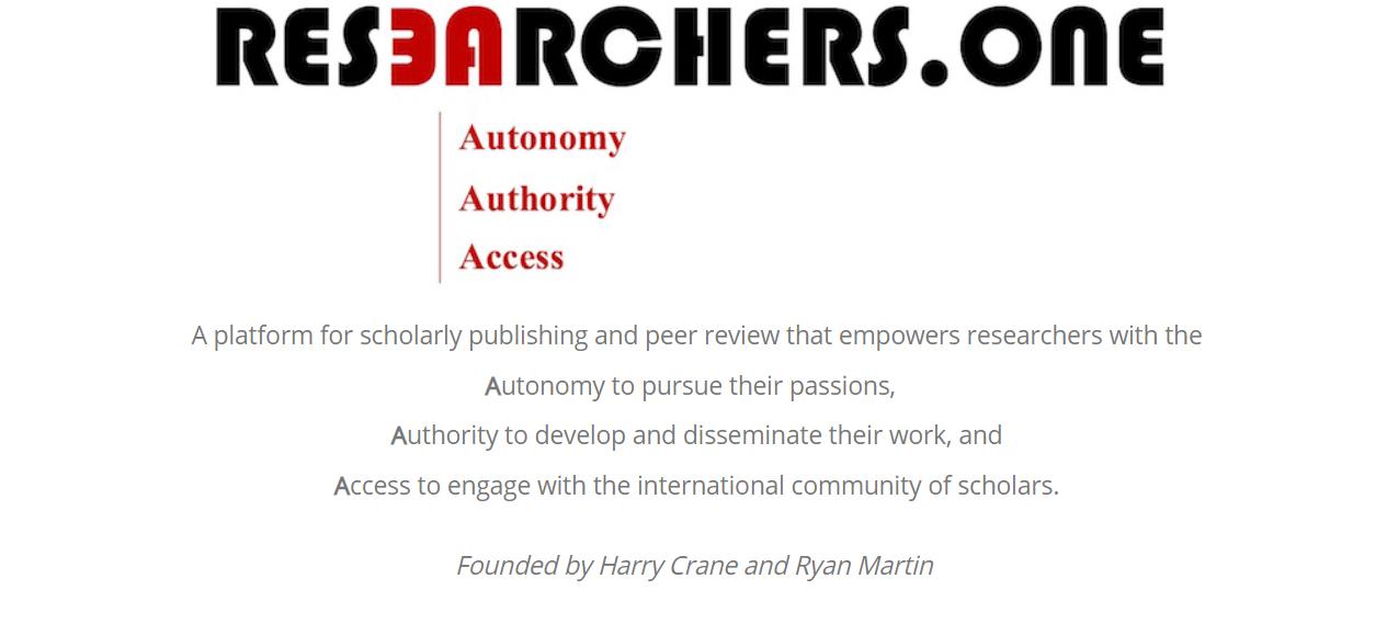 Издательская платформа Researchers.One обещает учёным автономность, право самим принимать решения исвободный доступ кисследованиям.