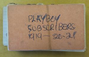 Карточки подписчиков журнала Playboy