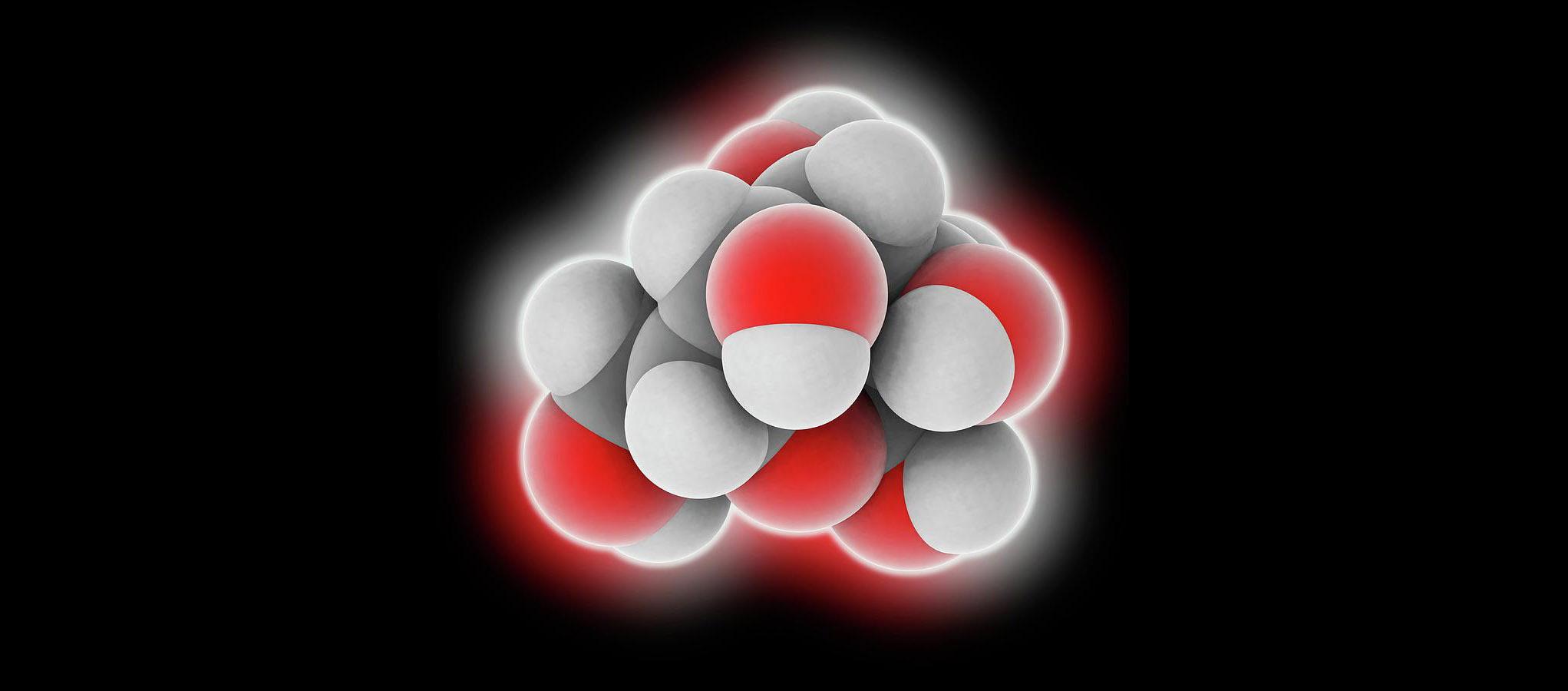 Молекула глюкозы. Она необходима издоровым клеткам, иопухолевым.
