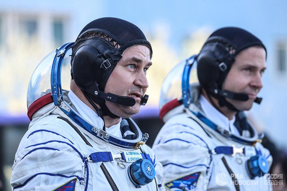 Экипаж миссии МКС-57/58 кМКС. Фото: РИА Новости