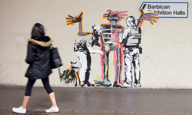Граффити рядом сБарбиканским центром.