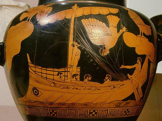 """Ваза """"Одиссей уострова сирен""""."""