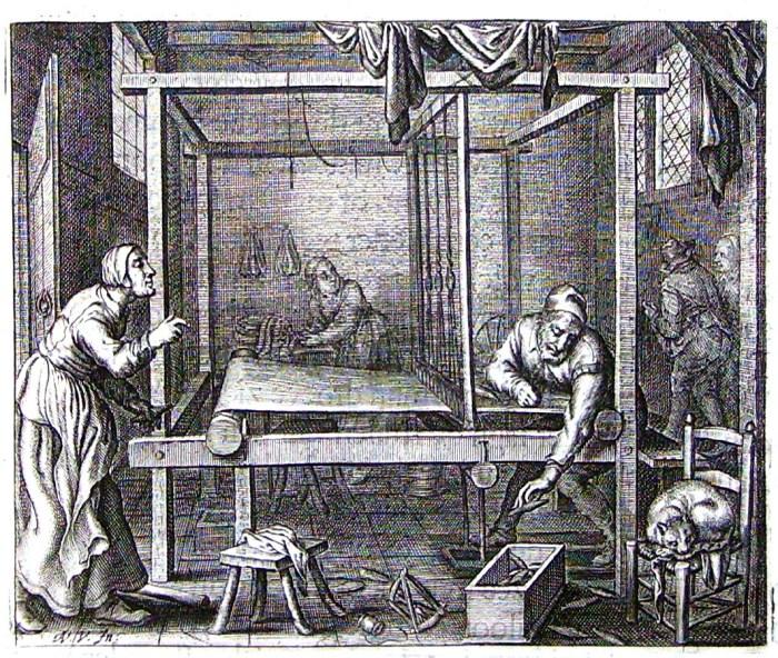 Рабочие-текстильщики.