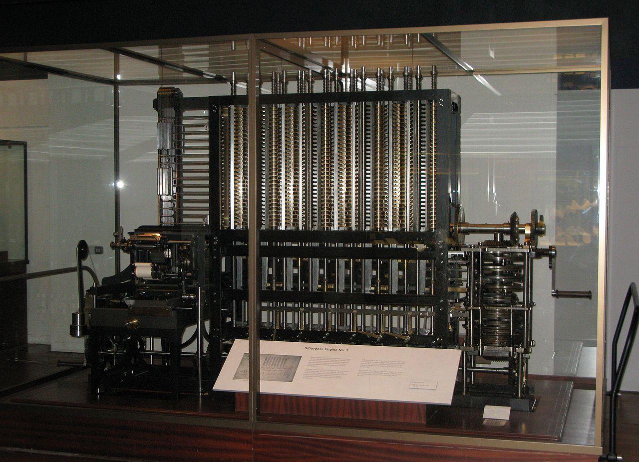 Копия разностной машины Бэббиджа  влондонском Музее науки.