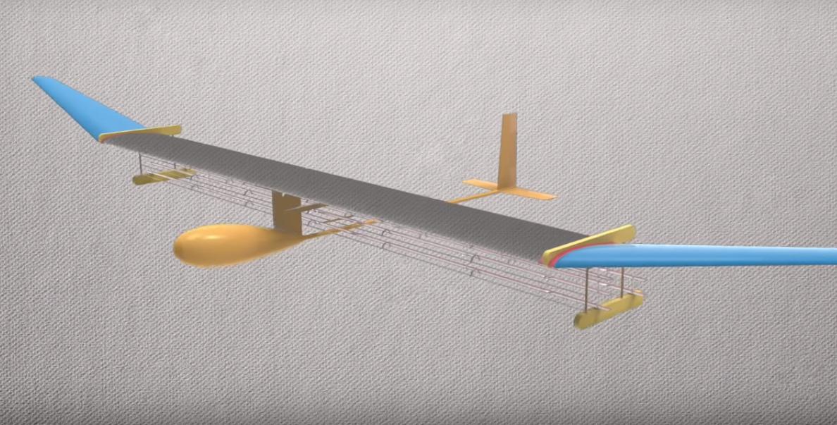 Модель бестопливного самолёта.