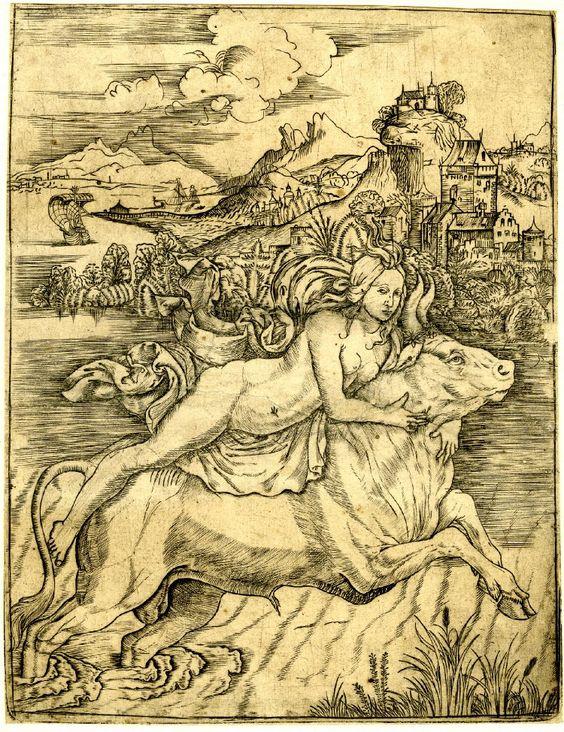 "Картина Джованни Баттиста Палумба (Giovanni Battista Palumba) ""Похищение Европы"" (The rape of Europa)."