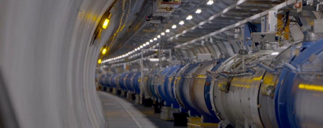 Тоннель ускорителя. Большой адронный коллайдер.