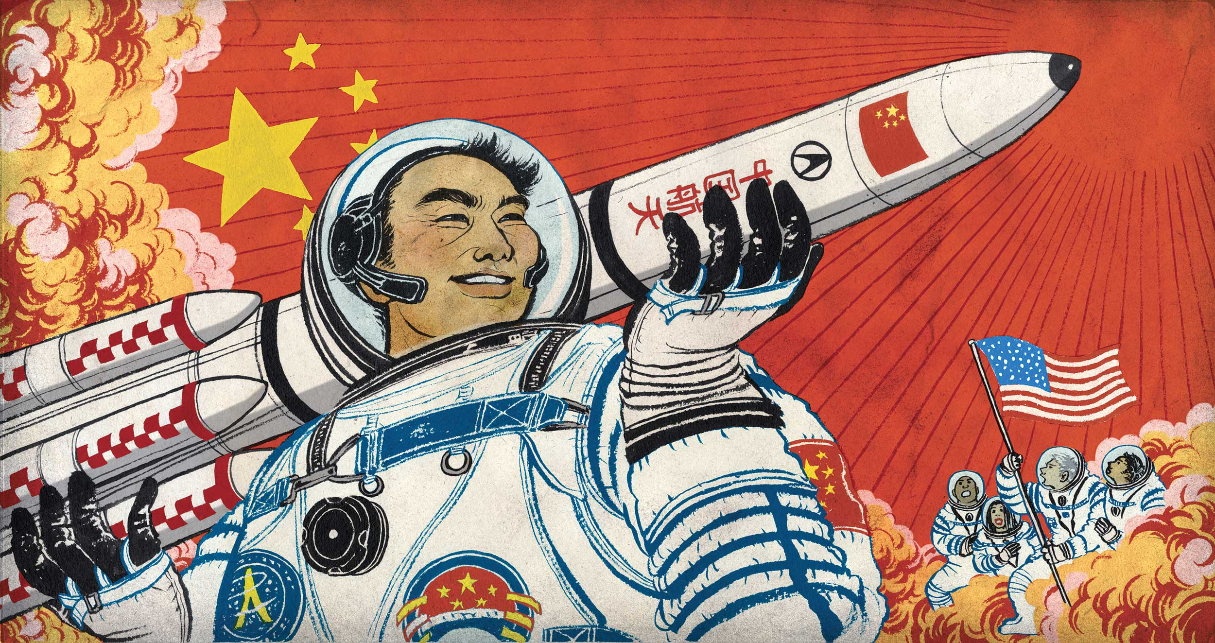 Китай иСША— это новые Давид иГолиаф. Такими они выглядят вголовах людей.