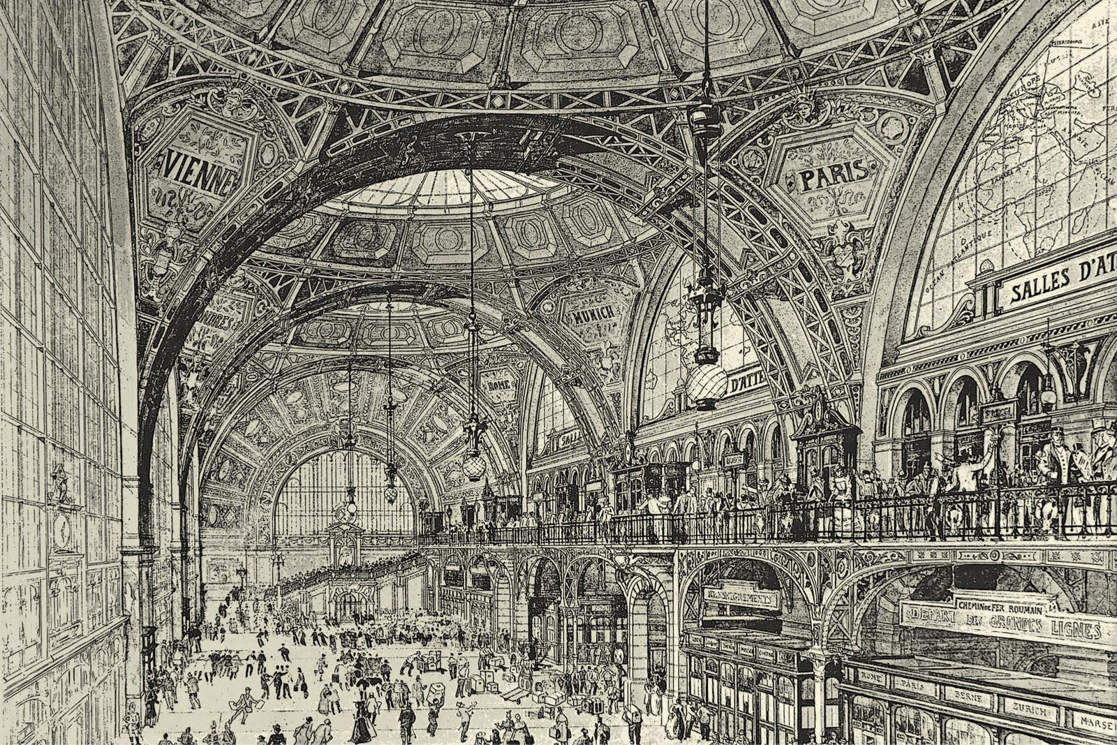 Никогда непостроенный Центральный вокзал Бухареста, проект Александра Марселя.