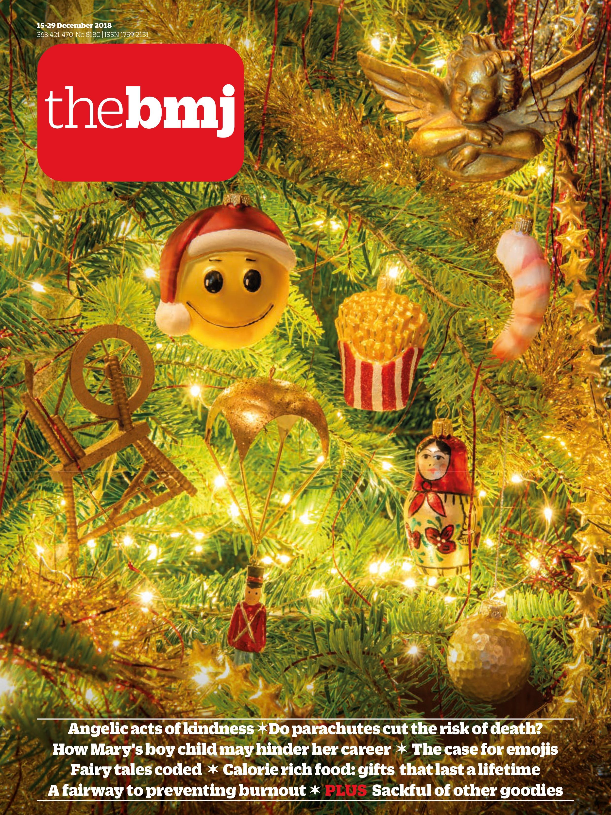 Обложка рождественского The BMJ.