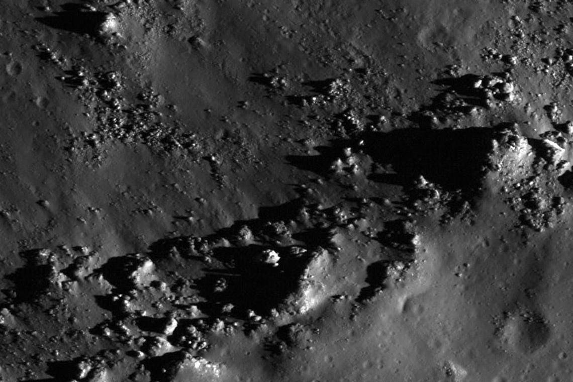 Луна. Южный склон кратера Коперника.