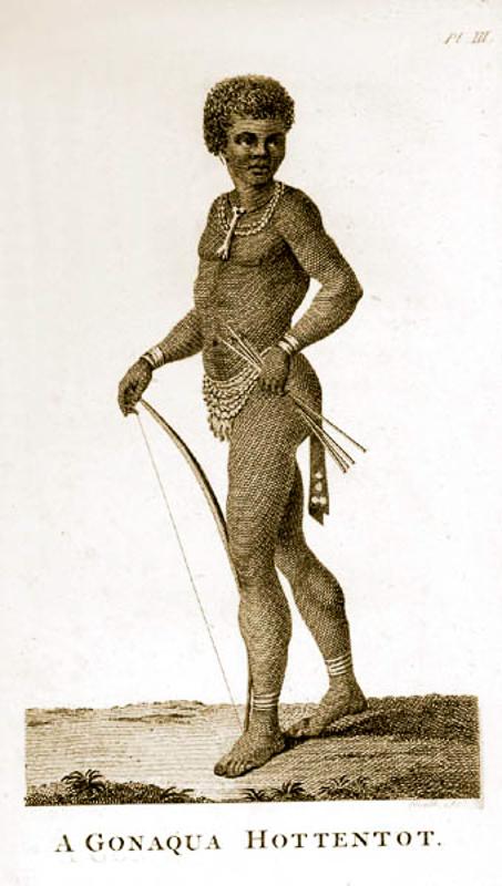 Готтентот нарисунке 1780-х годов.