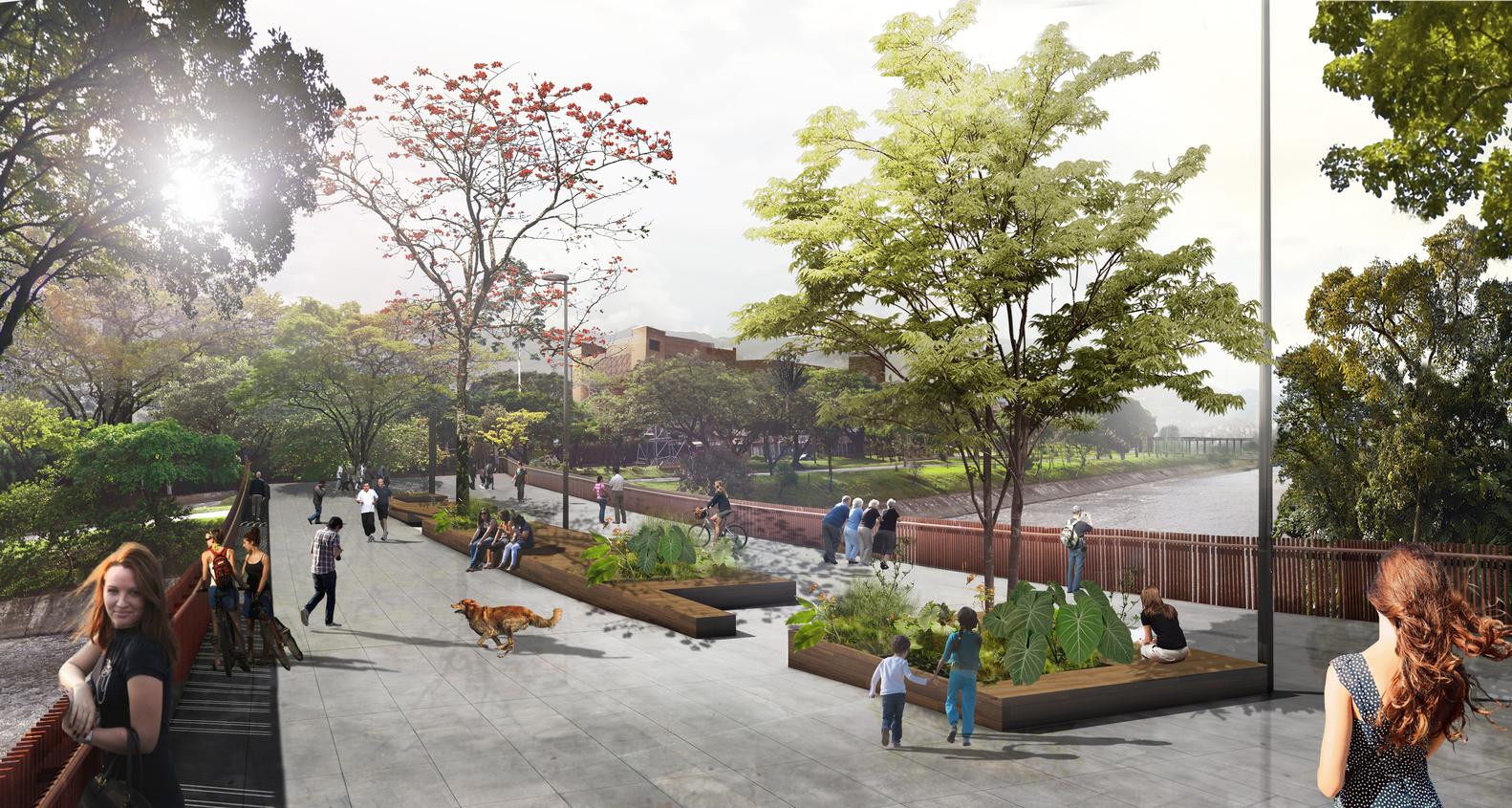 Medellin River Parks and Botanic Park