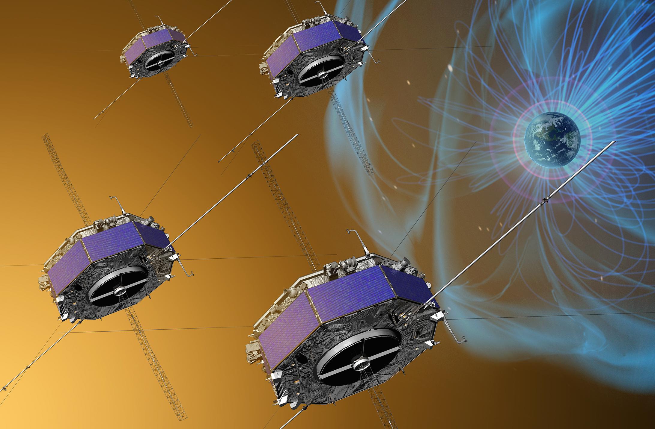 """Magnetospheric Multiscale Mission (MMS)— миссия <abbr title=""""NASA— Национальное управление по воздухоплаванию иисследованию космического пространства США"""">НАСА</abbr> по исследованию магнитосферы Земли"""