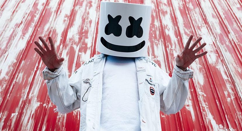 Американский EDM-диджей ипродюсер Marshmello.